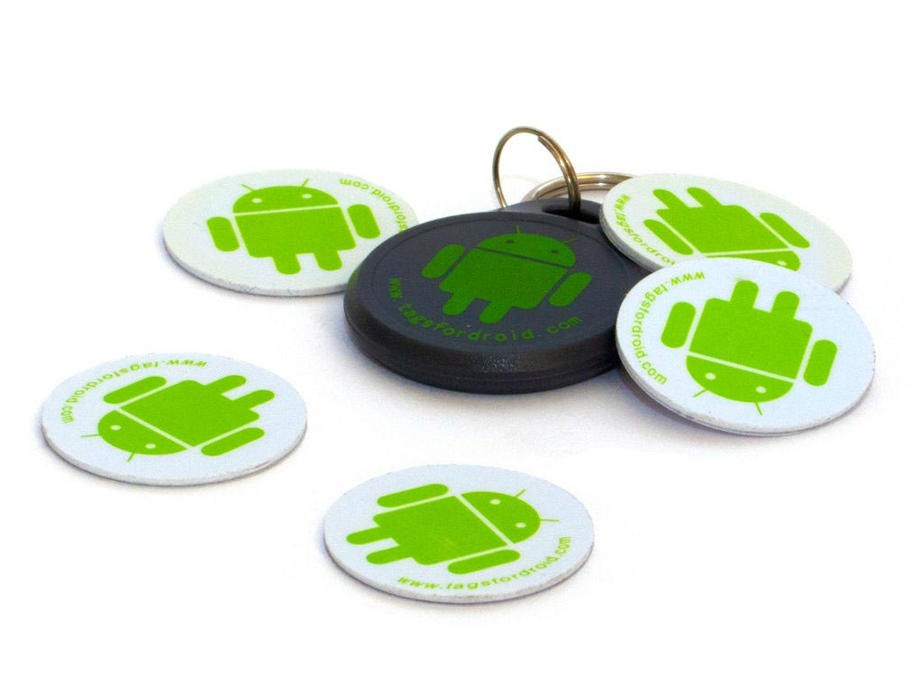 Android robot NFC tags